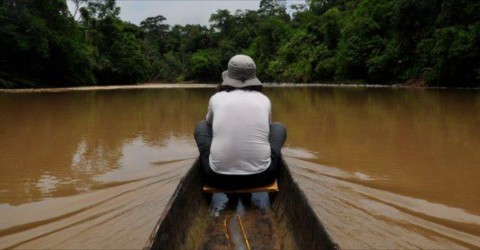 Canoe tour on the Bobonaza Rive